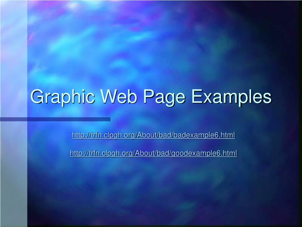 Graphic Web Page Examples