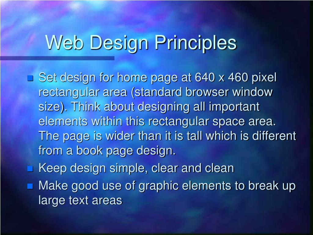 Web Design Principles