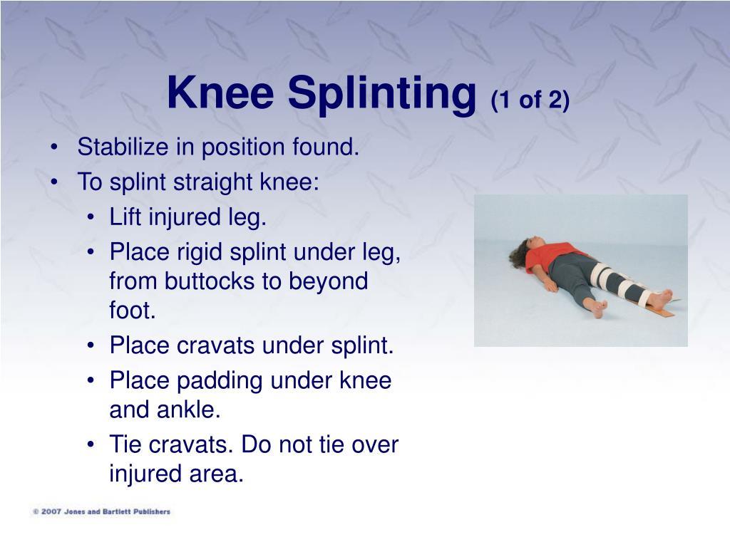 Knee Splinting