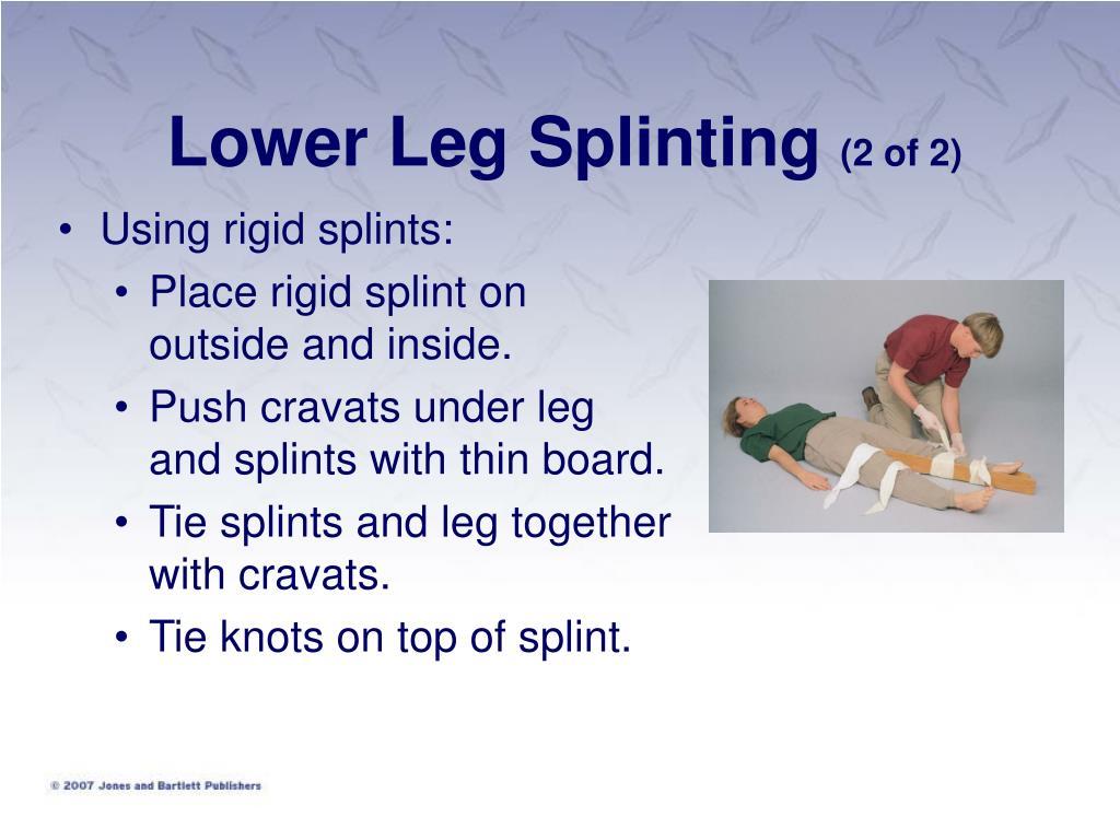 Lower Leg Splinting