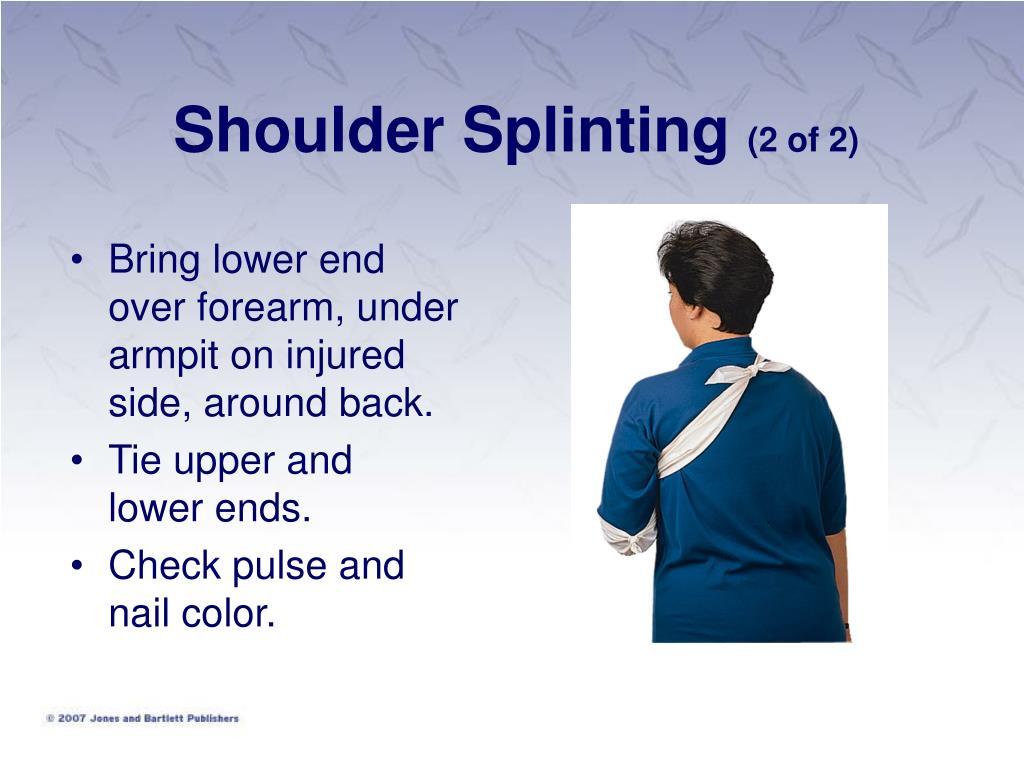 Shoulder Splinting