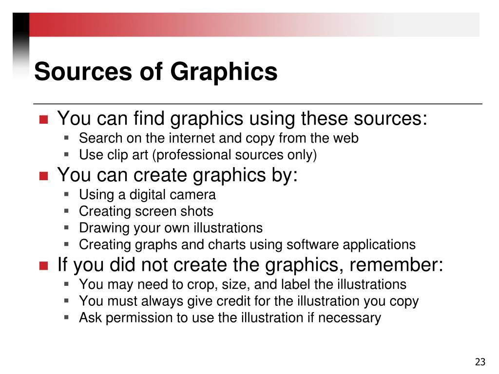 Sources of Graphics