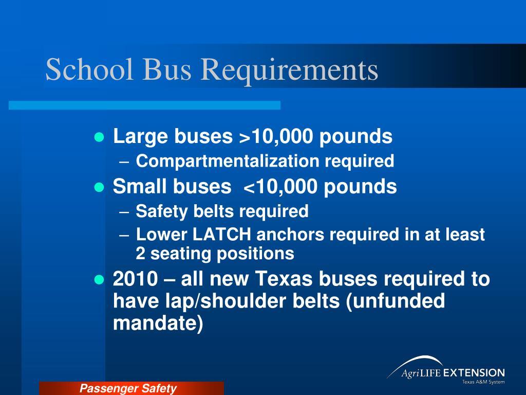 School Bus Requirements