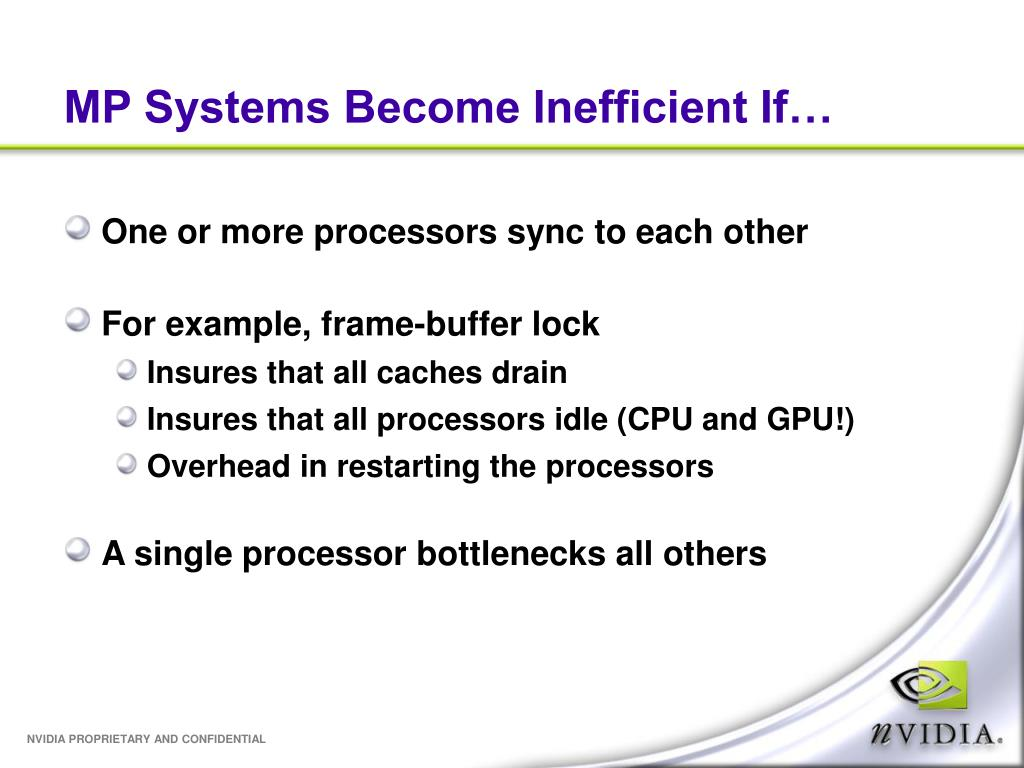 MP Systems Become Inefficient If…