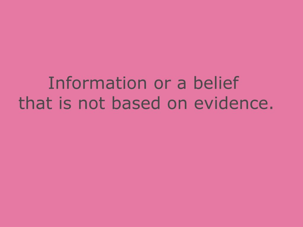 Information or a belief
