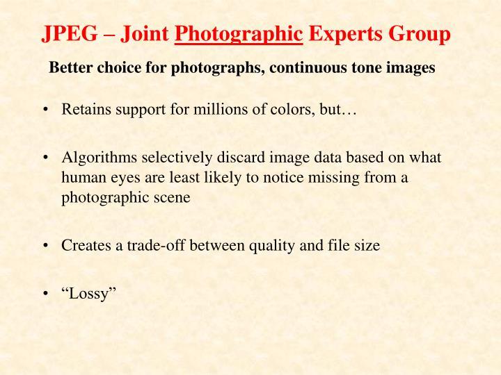 JPEG – Joint