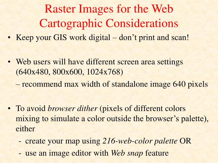 Raster Images for the Web