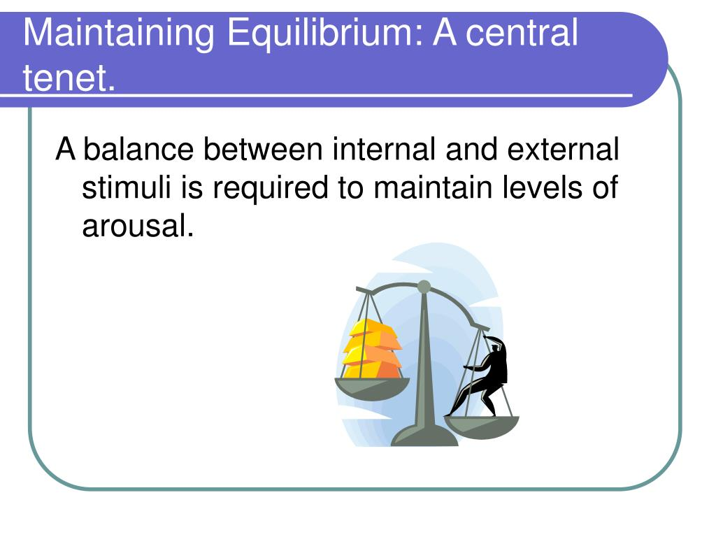 Maintaining Equilibrium: A central tenet.