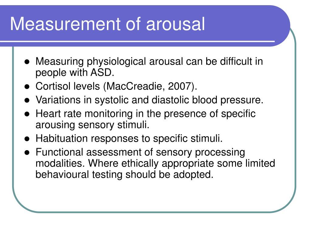 Measurement of arousal