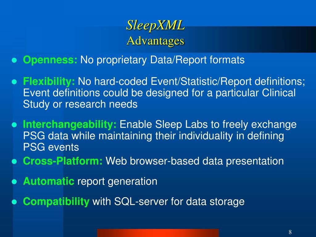 SleepXML