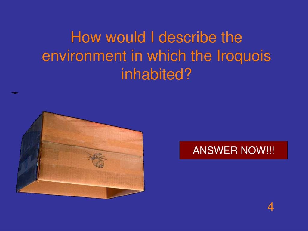 How would I describe the environment in which the Iroquois inhabited?