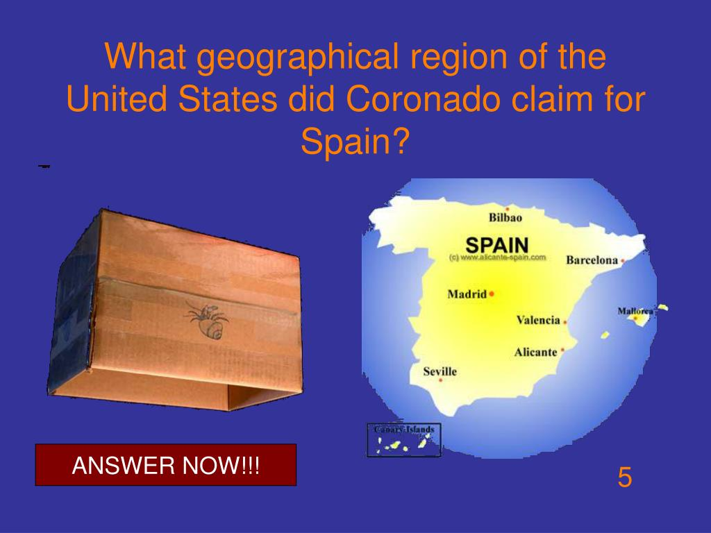 What geographical region of the United States did Coronado claim for Spain?