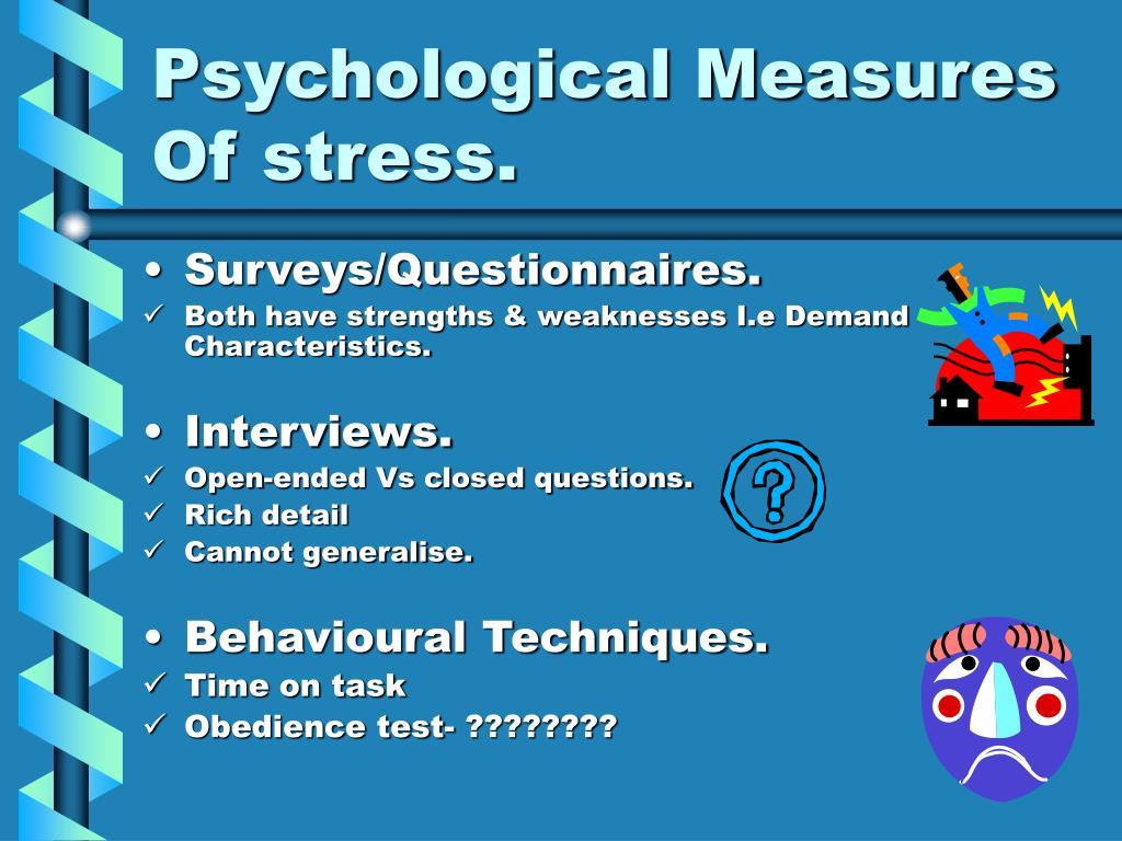Psychological Measures Of stress.