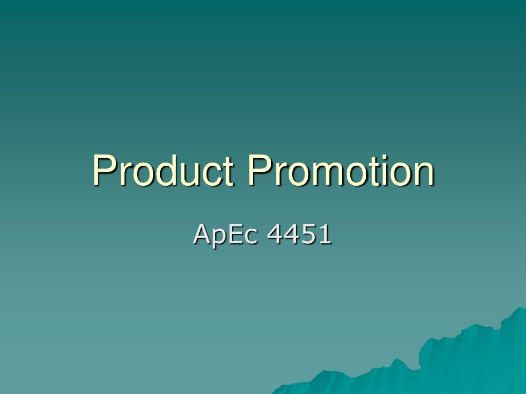 Product Promotion