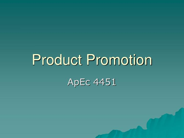 Product promotion l.jpg
