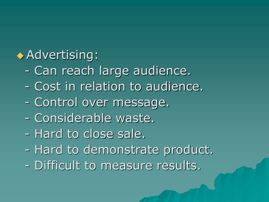 Advertising: