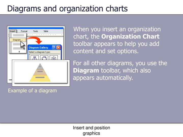 Diagrams and organization charts