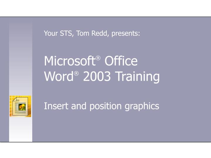 Microsoft office word 2003 training