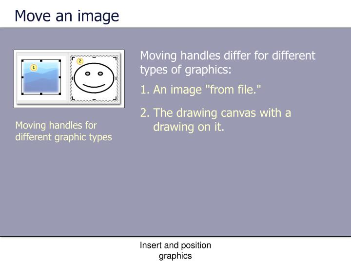 Move an image