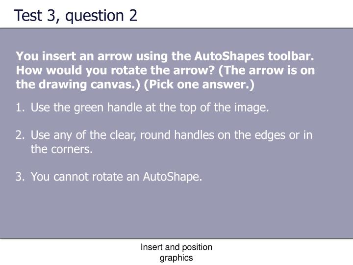 Test 3, question 2