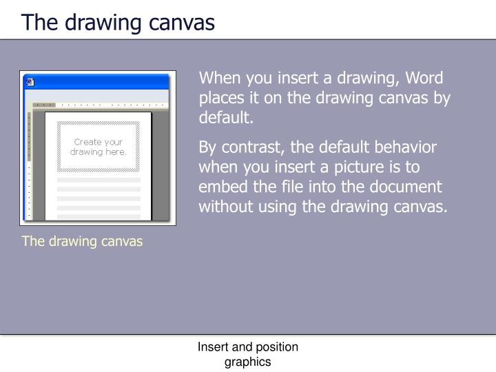 The drawing canvas