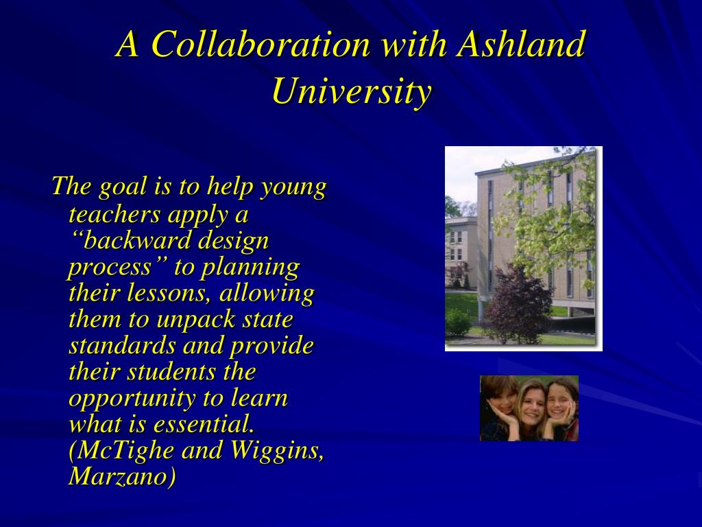 A Collaboration with Ashland University