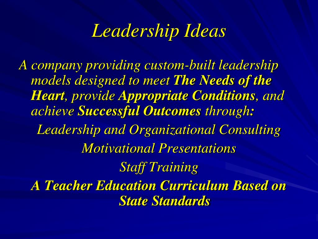 Leadership Ideas
