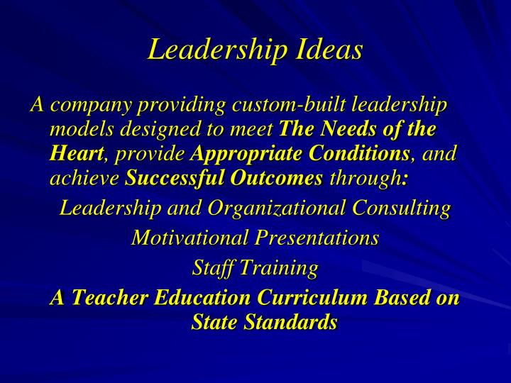 Leadership ideas2
