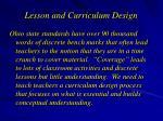 lesson and curriculum design