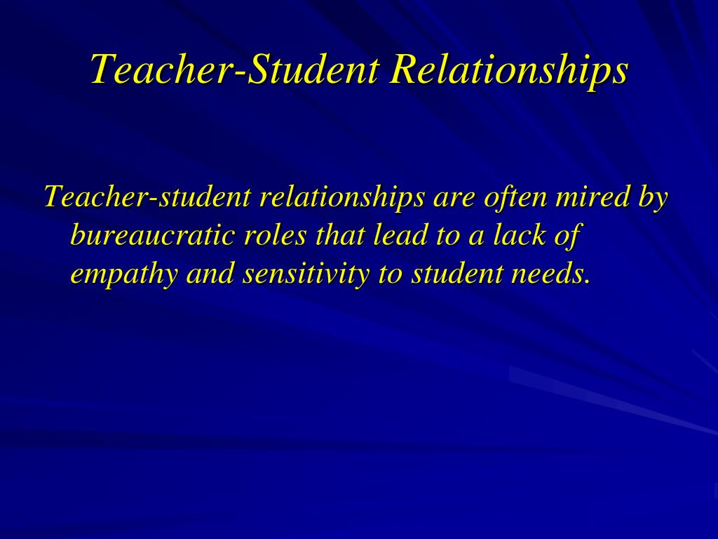 Teacher-Student Relationships