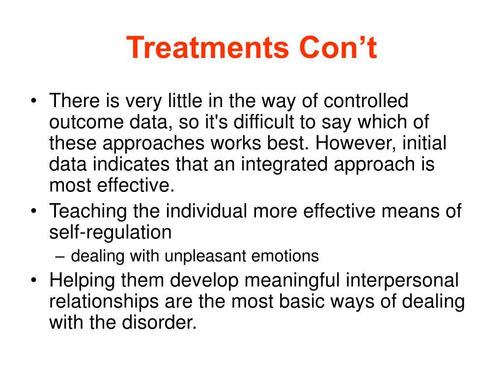 Treatments Con't