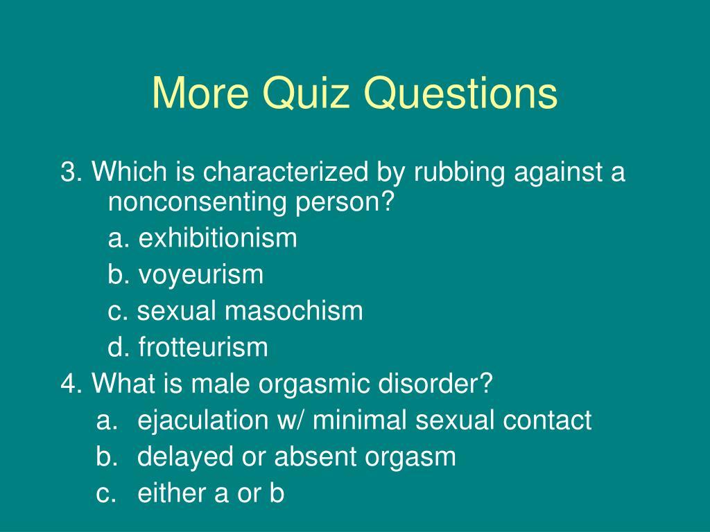 More Quiz Questions
