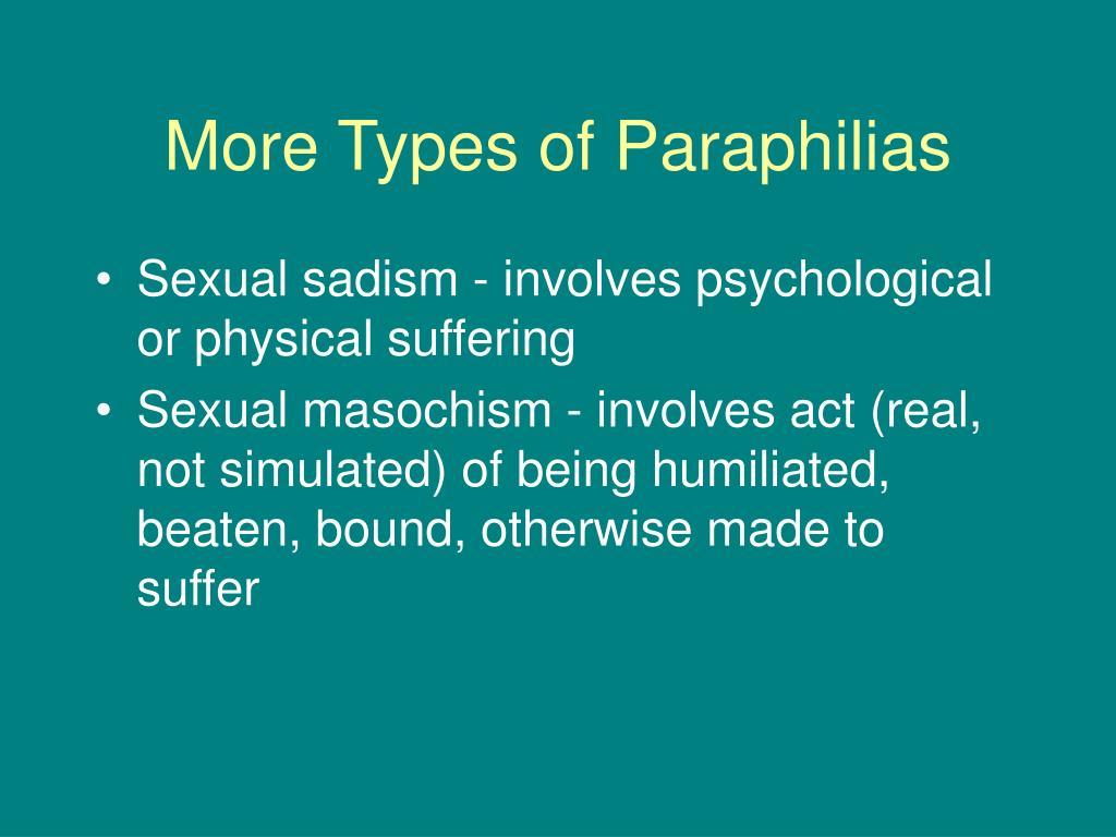 More Types of Paraphilias