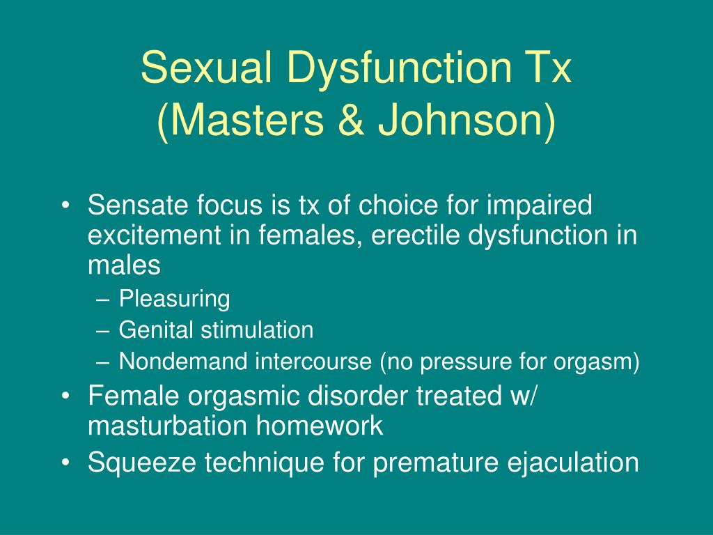 Sexual Dysfunction Tx (Masters & Johnson)