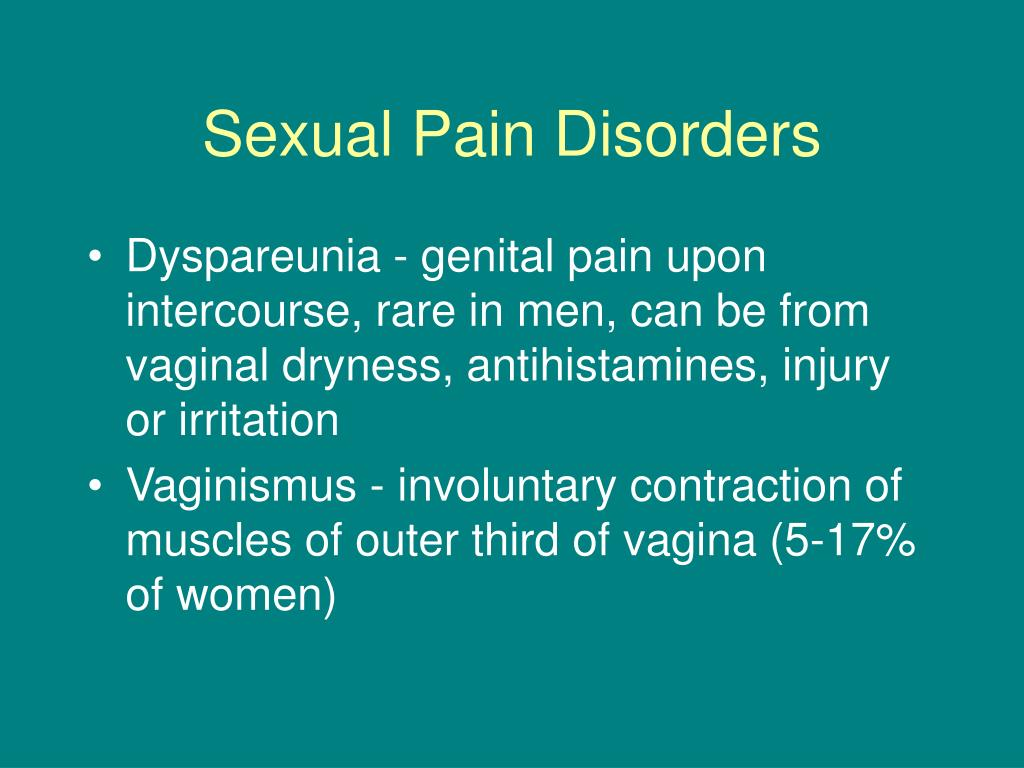 Sexual Pain Disorders