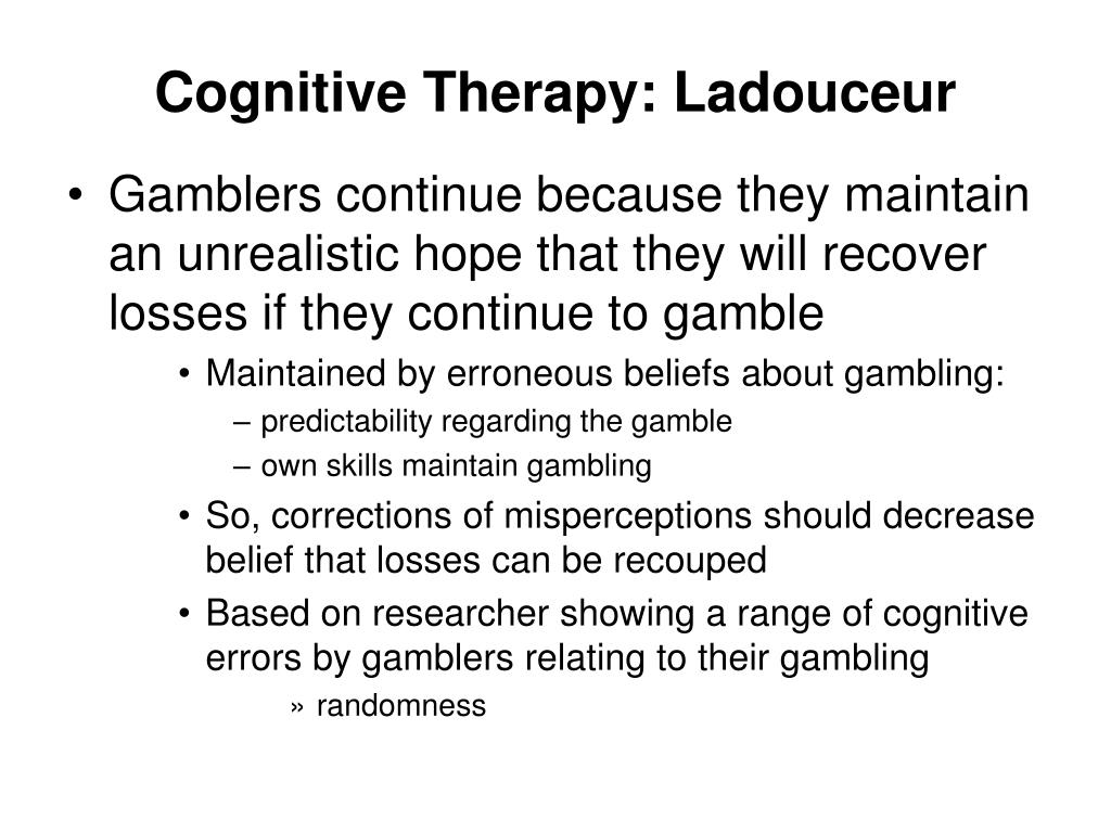 Cognitive Therapy: Ladouceur