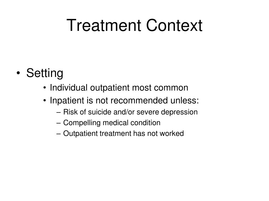 Treatment Context