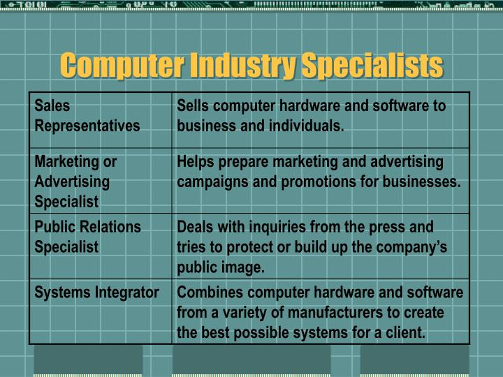 Computer Industry Specialists