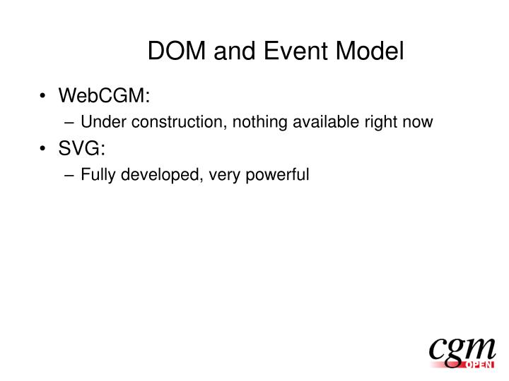 DOM and Event Model