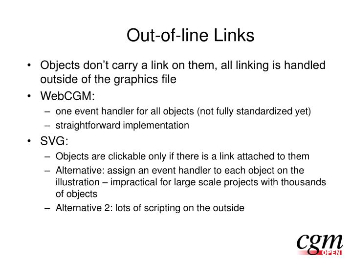 Out-of-line Links