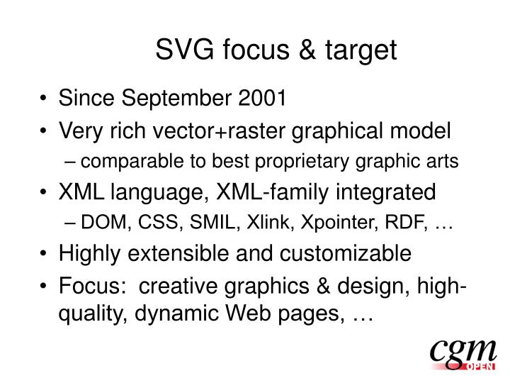 SVG focus & target