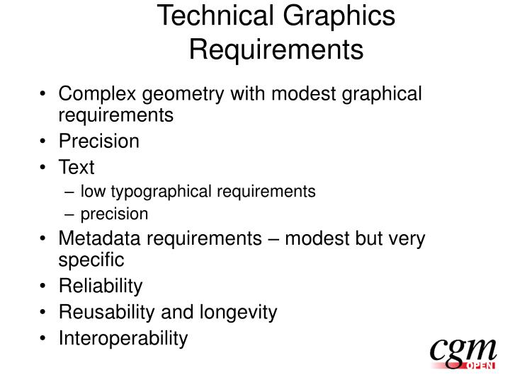 Technical Graphics Requirements