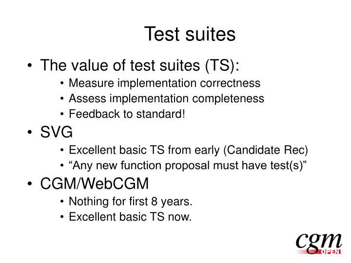 Test suites