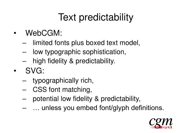 Text predictability