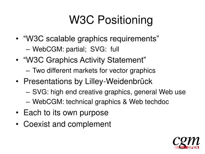 W3C Positioning