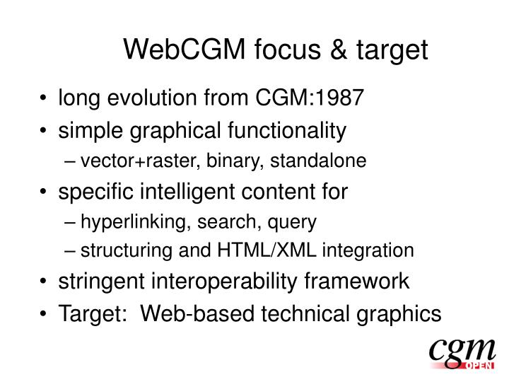 WebCGM focus & target