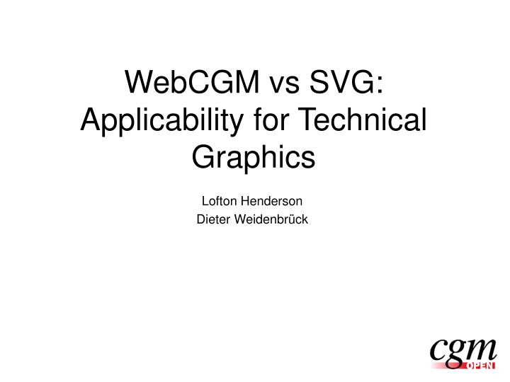 webcgm vs svg applicability for technical graphics