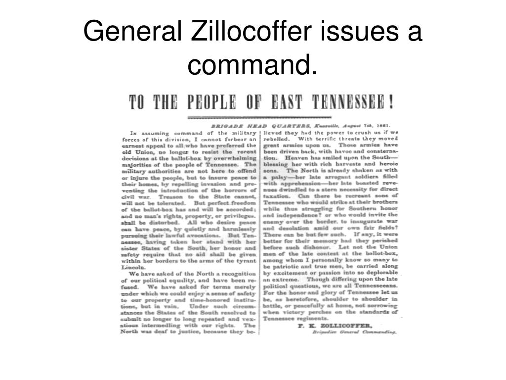 General Zillocoffer issues a command.