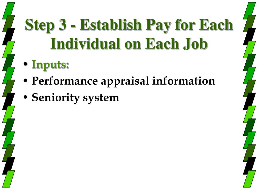 Step 3 - Establish Pay for Each Individual on Each Job