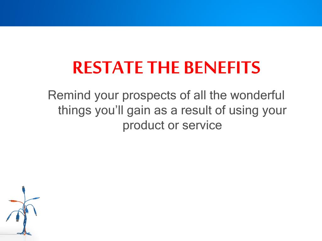 RESTATE THE